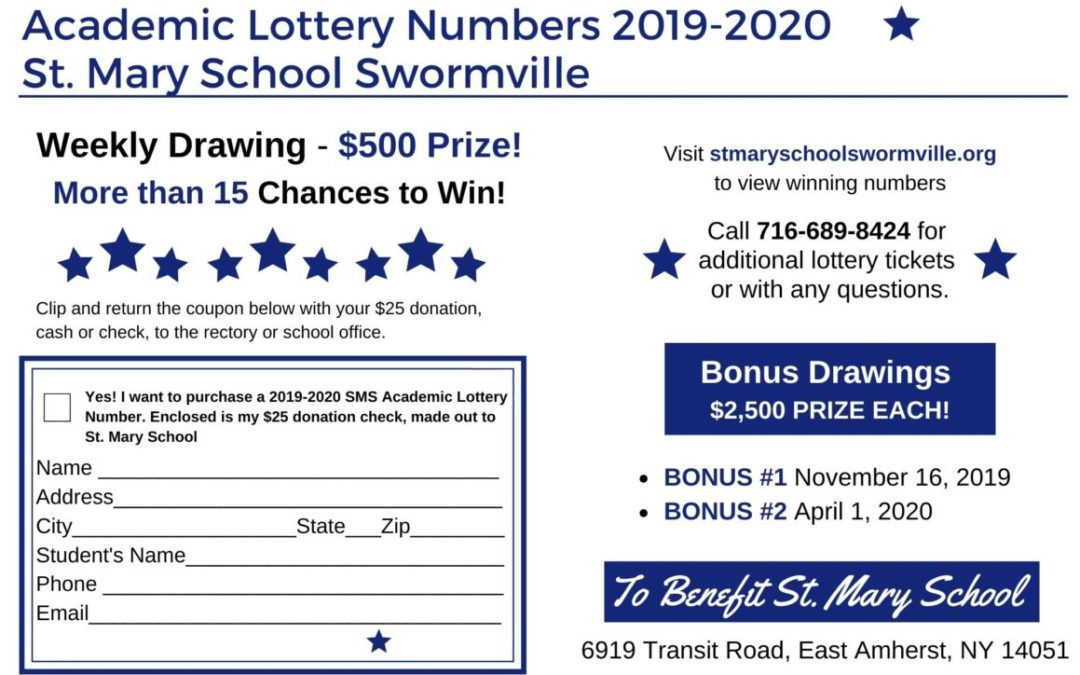 December 20th, last day to buy your Academic Lottery Tickets and Win Big!
