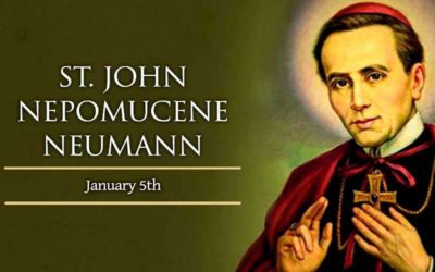 Veneration & Prayer Planned for Feast Day of St. John Neumann on January 5th In Our Chapel- St. Mary's Spiritual Founder